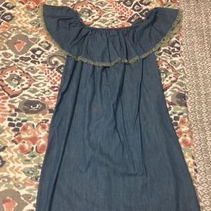 Mossimo Supply Co. Off the Shoulder Chambray Dress